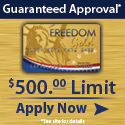 gold freedom bad credit credit card