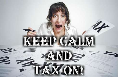 keep calm and tax on