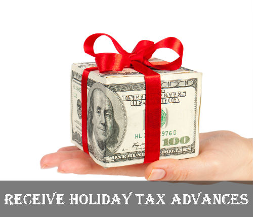 receive holiday tax loans for emergency financial help